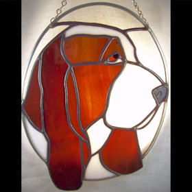 basset hound dog suncatcher