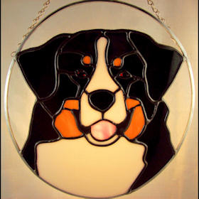 Bernese mountain dog suncatcher