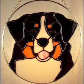 Bernese mountain dog suncatcher