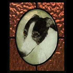 black white greyhound