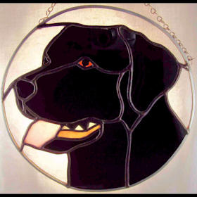 black labrador retriever suncatcher