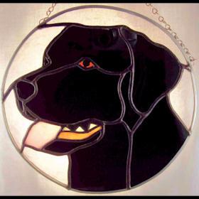 black labrador retriever suncatcher