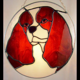 cavalier-king-charles pattern for a stained glass cavalier king charles spaniel