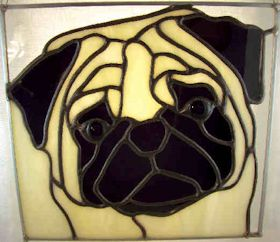 pug suncatcher pattern