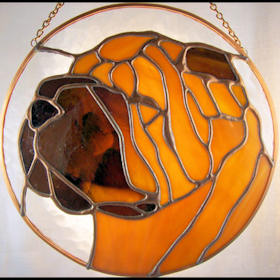 chinese shar-pei stained glass suncatcher