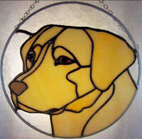yellow lab stained glass and yellow lab pattern