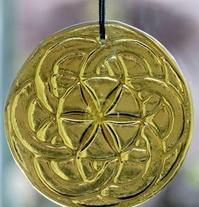 celtic star medallion recycled glass